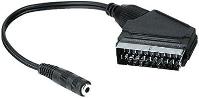 Hama 00122244 - Adaptador Scart a 3.5 mm, color negro