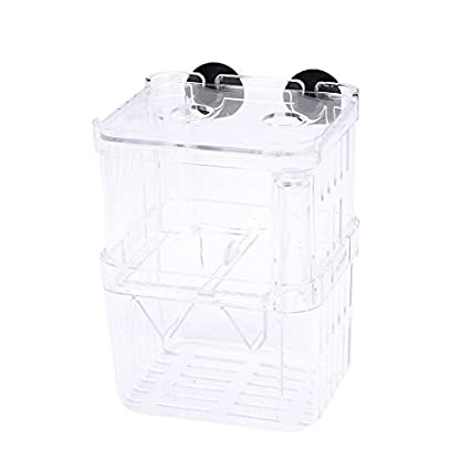 DealMux Plastic Retangle Shape Floating Double-deck Aquarium Divider Hatchery 1