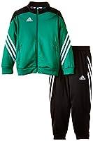 Der Adidas Sereno 14tuta è versatile ideale per lo sport attivo e anche per il tempo libero. Giacca e pantaloni sono dotati di tasche laterali con chiusura a zip. Per una rapida indossare e togliere le elastico all' estremità delle gambe è d...