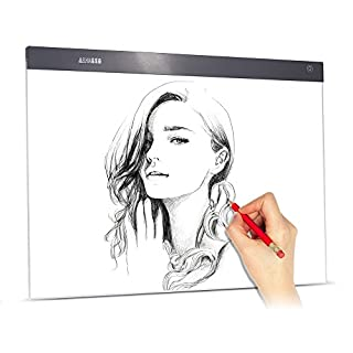 Aibecy A2 Large Ultra-Thin LED Light Pad Box Painting Tracing Panel Copyboard Stepless Adjustable Brightness USB Powered for Tattoo Pencil Drawing X-Ray