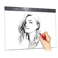 Aibecy A2 Large Ultra-thin Panel de iluminación LED Cuadro Pintura Panel de seguimiento Copyboard Brillo ajustable sin escalonamiento USB Desarrollado para dibujos animados Tatuaje Dibujo Rayos X Ver