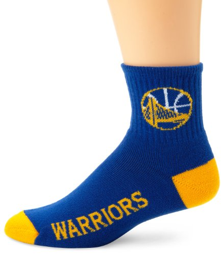 For Bare Feet Golden State Warriors Team Farbe Quarter Socken, Herren, Golden State Warriors, Large -