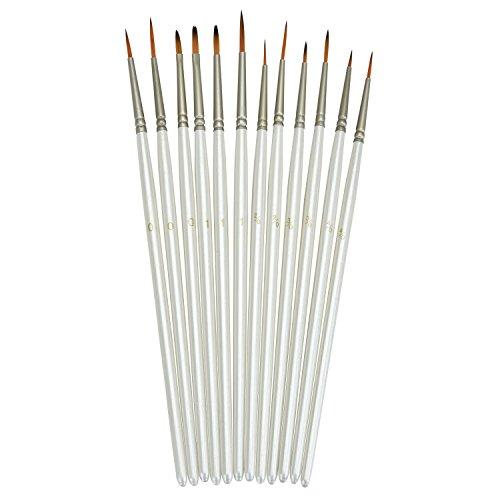 Browill Künstlerpinsel Set [12 Stück] Detail-Pinsel Maler Pinsel Miniatur Bürsten für Feine Details Kunstmalerei Kunst