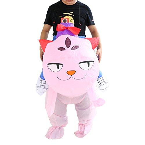 MagiDeal Erwachsene Aufblasbar Blowup Katze Kitty Kitten Kostüm Ganzanzug Outfit Halloween Party