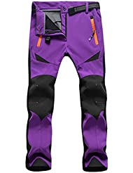 superray Invierno de Mujer para senderismo pantalones impermeables Outdoor Sport pantalones, morado
