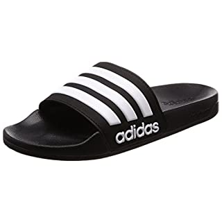 Adidas Men's Cloudfoam Adilette  Beach Flip Flops, Black (Core Black/Footwear White), 10 UK
