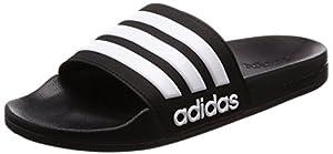 adidas Herren CF Adilette Dusch-& Badeschuhe, Schwarz (Negbas/ftwbla/Negbas), 44.5 EU