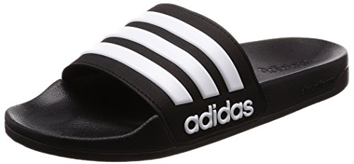 Adidas Originals-spiel (Adidas Adilette Shower, Herren Dusch- & Badeschuhe, Schwarz (Core Black/Footwear White/Core Black 0), 47 EU)