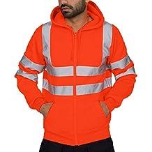 Yazidan Herren Einfarbig Reflektierende Kapuze Langarm Patchwork Sweater  Top Hoodie für Sport Fitness Gym Training   358ded9bc5