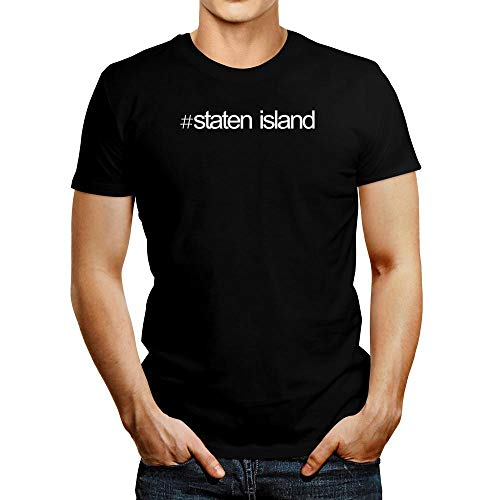 Idakoos Hashtag Staten Island Bold Text T-Shirt M