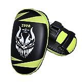 XINTD Boxe Pad Taekwondo Kick Karate Pad PU Leather Muay Thai MMA Arte Marziale Kickboxing Punch Mitts Punching Bag Calci Scudo Training,Green