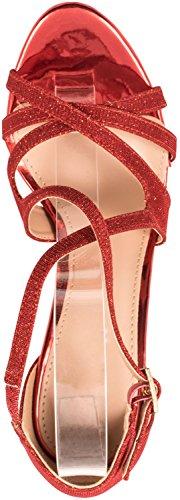 Elara - Scarpe con cinturino alla caviglia Donna Rot
