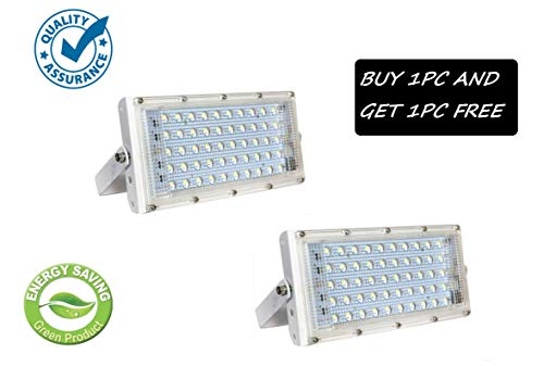 FEMINGO® 50 Watt 220-240V Waterproof Landscape IP65 Perfect Power LED Flood Light (White) (Buy 1PC GET 1 Free)