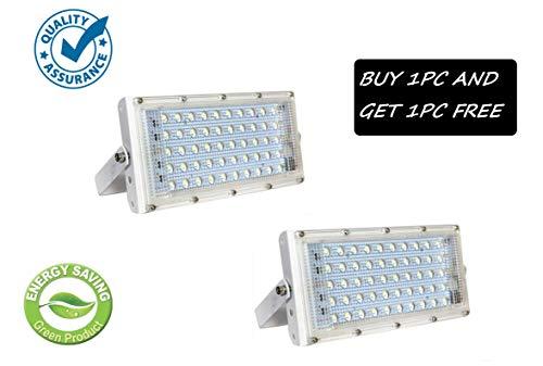 URBAN KING ® URBAN KING® 50 Watt 220-240V Waterproof Landscape IP65 Perfect Power LED Flood Light (White) - Pack of 2