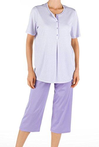 Calida lady tulip pyjama 3/4 pour femme Violet - 563 sky line mint