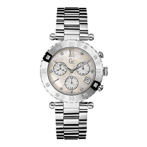 Reloj Guess Collection Gc Diver Chic 8 Diamond X42108m1s Unisex Nácar
