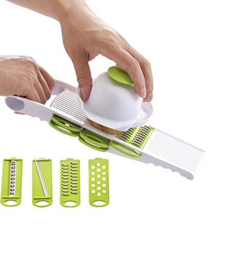 Elikeable Creative Multi Gemüsehobel Mandoline und Reibe Küche Set – wird mit Speisen,...