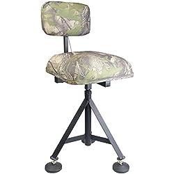 Silla de tiro de camuflaje giratoria acolchada Taburete con asiento para esconderse giratorio ajustable para la caza