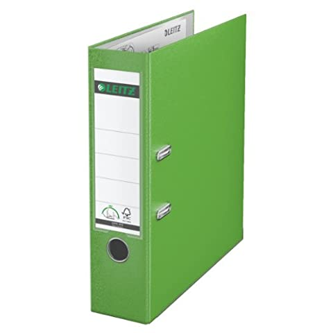 Leitz 10105050 Plastik Qualitäts-Ordner 180° (mit Schlitzen, A4, breit) hellgrün