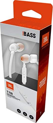 (Renewed) JBL T110 in-Ear Headphones with Mic (White) Image 8