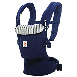 Ergobaby Baby Carrier for Newborn to Toddler, Admiral Blue Adapt 3-Position Ergonomic Child Carrier Backpack   15