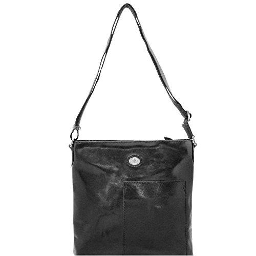 The Bridge Bureau borsa a tracolla pelle 30 cm compartimenti portatile Nero