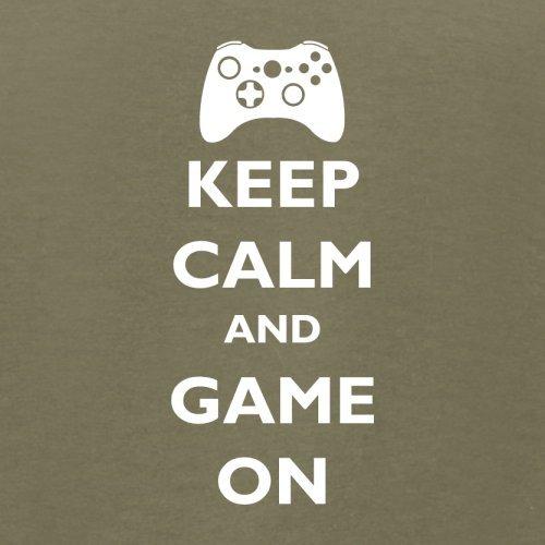 Keep calm and Game on - Herren T-Shirt - 13 Farben Khaki