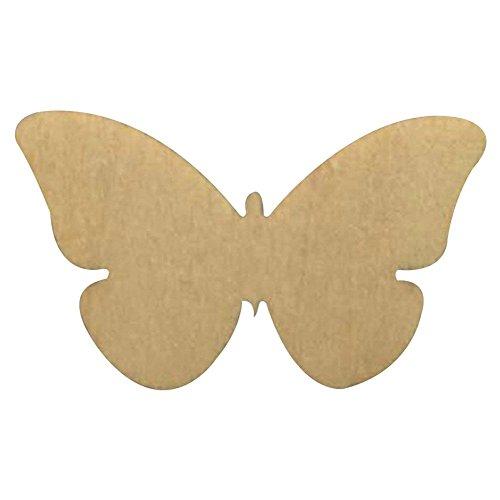 aihometm 50pc diy forma di farfalla in legno legno tinta unita, per decorazioni, con foro (Farfalla Strings)