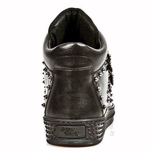 New Rock Pisa Schwarz Stiefel M.PS007-S1 Black