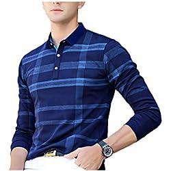 EYEBOGLER Regular Fit Men's Cotton T-Shirt (XL-T51-NBIR, Navy Blue-Indigo Royal, X-Large)