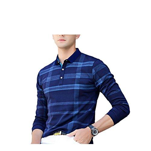 EYEBOGLER Regular Fit Men's Cotton T-Shirt (L-T51-NBIR, Navy Blue-Indigo Royal, Large)