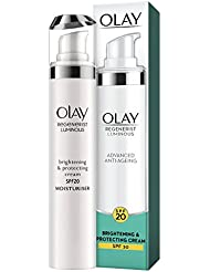 Olay Regenerist Luminous Anti-Ageing Brightening and Protecting Cream SPF20 for Even Skin Tone and UVA/UVB Protection, 50 ml