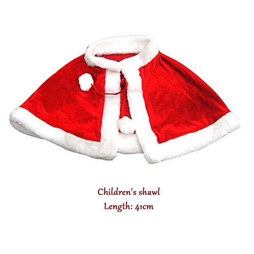 SPFAZJ Santa Anzug Kostüm WEIHNACHTSKOSTÜME für Kinder Erwachsener Weihnachten Schal Kap Santa Kleidung Frauen Neue ()