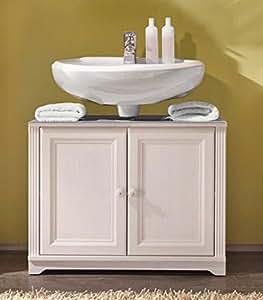 waschtisch kommode jasmin waschbeckenunterschrank landhaus l rche wei k che haushalt. Black Bedroom Furniture Sets. Home Design Ideas