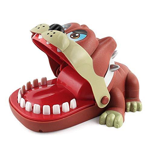 pielzeug, Dinosaurier/Krokodil/Bulldogge/Beißfinger Zahnarzt-Spielzeug, klassisches lustiges Spielzeug für Kinder Bulldog ()