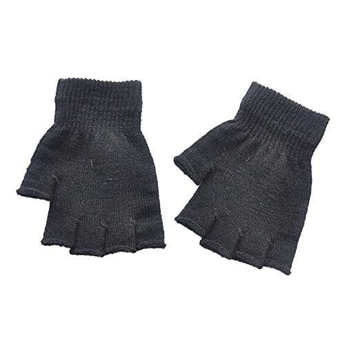 TEBAISE Damen Fingerlose Handschuhe | Praktische Winterhandschuhe aus Strick | Angenehm Weich und flauschig für Alltag & Freizeit | Unisex & One-Size (Warum Halloween Gefeiert Wird)