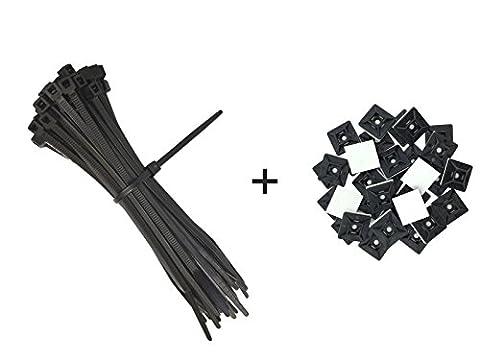intervisio Serre-Câbles de Nylon 300 x 3,6mm Attache-Câble Colliers de