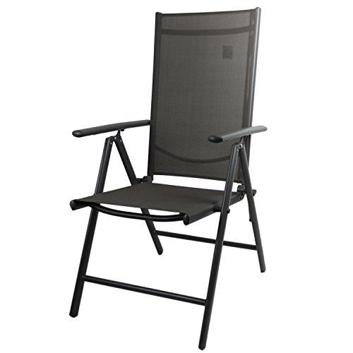 Wohaga Elegante Sitzgarnitur 9-teilig Sitzgruppe Gartengarnitur Terrassenmöbel Gartenmöbel Set Aluminium Polywood Ausziehtisch 280/220x95cm + 8X Hochlehner 2×2 Textilenbespannung
