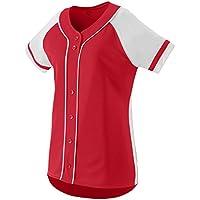 Augusta Sportswear Girls' Winner Softball Jersey L Red/White