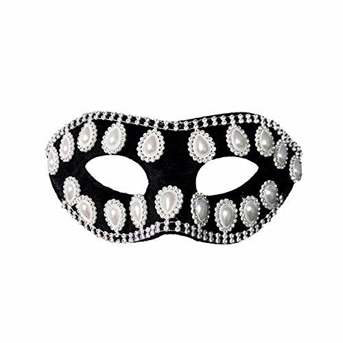 ParttYMask Maskerade,Einfachheit Maske Mann Paarmaske weiß Masquerade - Maskerade-masken Männer Weiße Für