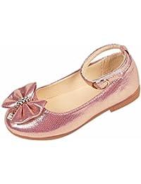 Zapatos Niñas Carnaval K-youth® Zapato Princesa Niña Sandalias de Vestido Flat Shoes Bailarinas Princesa Zapatos con Tacón para Cumpleaños Fiesta Cosplay