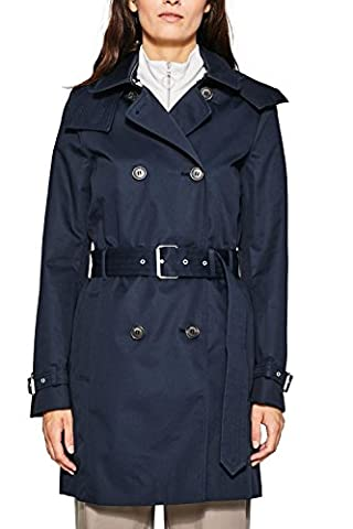 ESPRIT Collection 087eo1g003, Manteau Femme, Bleu (Navy 400), X-Large (Taille Fabricant: 42)