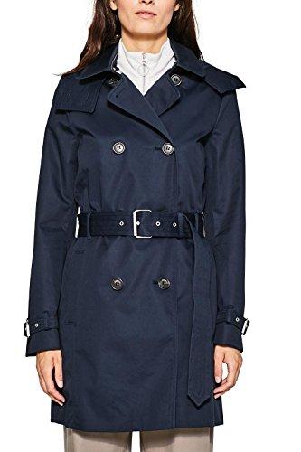 ESPRIT Collection Damen Mantel 087EO1G003, Blau (Naval forces 400), X-Large (Herstellergröße: 42)