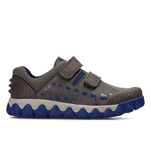 Clarks Tyrex Walk Inf, Sneakers Basses Garçon - Marron - Marron, 31F EU Enfant