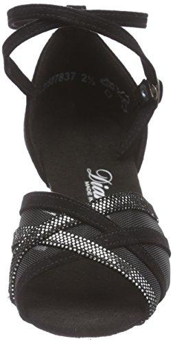 Diamant Diamant Damen Latein Tanzschuhe 035-064-139, Chaussures de Danse de salon femme Noir - Noir