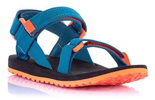 Source enfants sandales Urban Talons jeunes filles couleurs assorties/101093 - Blau Orange