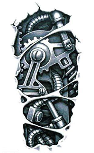 EROSPA® Tattoo-Bogen temporär / Sticker - Maschine Roboter - Wasserfest