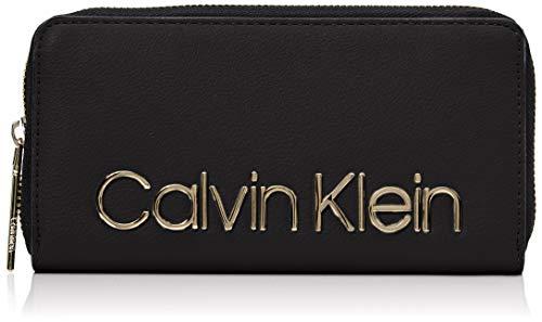Calvin Klein Damen Ck Must Lrg Ziparound Geldbörse, Schwarz (Black), 2x10x19 cm (Clutch One All In Wallet)