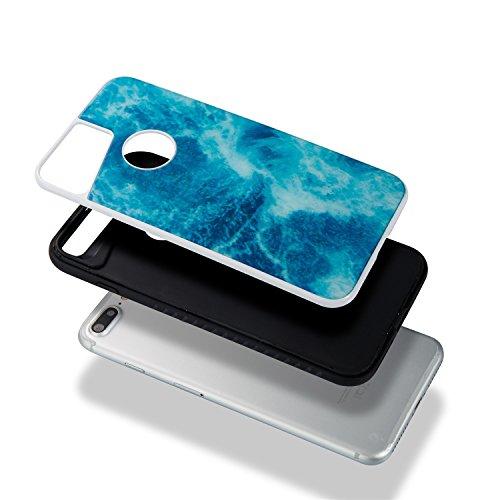 EKINHUI Case Cover Dual Layer Scrub Marmor Stein Bild Pattern PC + TPU Fall Deckung Shell für iPhone 7 Plus ( Color : B ) E