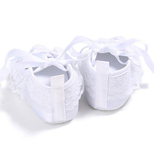 Kleinkind Baby Krippe Sneakers Neugeborene Rutsch Wei Anti Blume Schuhe Soft M盲dchen Saingace Sohle 6vwRndqq